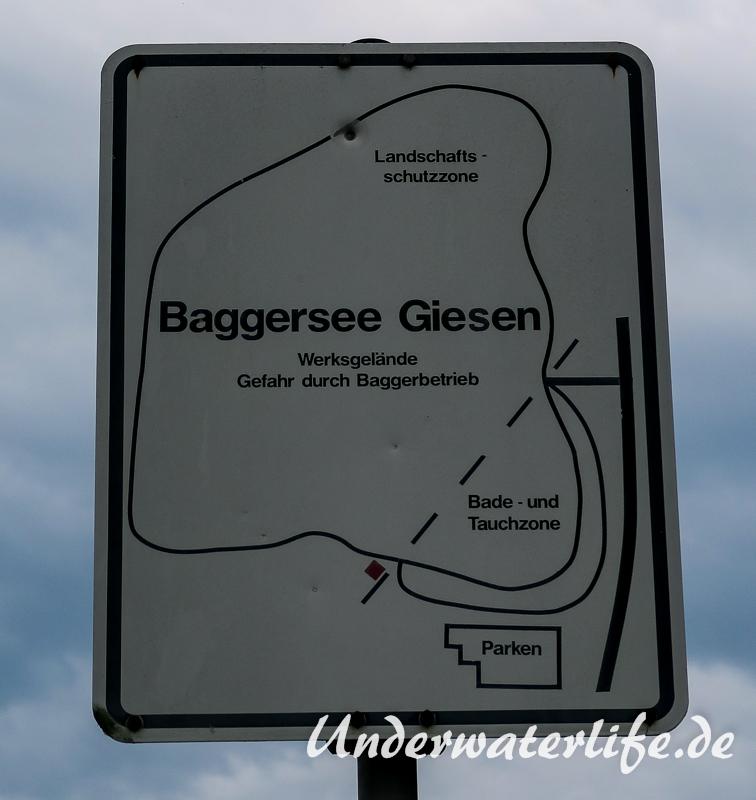 Tauchzone Baggersee Giesen